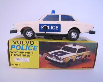 Vintage Volvo Police Toy Car (7604)