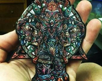 v1 God Elephant hat pin.