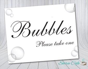 Bubbles Sign   Wedding Sign, Reception Sign 8x10 {Digital Download}