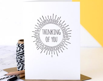 Thinking Of You Card; Sympathy Card; Good Luck Card; Condolence Card; GC512