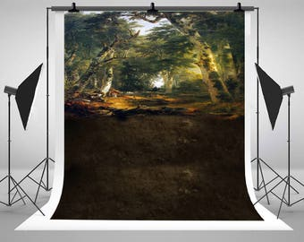 Fantasy Deep Forest Photography Backdrops Newborn Baby Photo Backgrounds for Children Studio Props