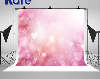 Dream Spot  Photography Backdrops Pink Love Heart Photo Backgrounds for Valentine's day Studio Props HJ03007