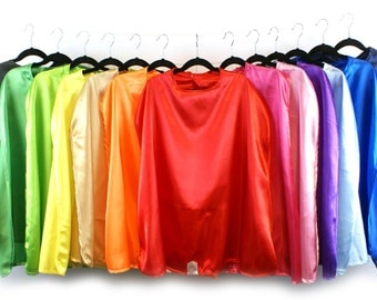 Kid's Bulk Superhero Cape Party Pack - Mixed Color - Choose your QTY and Color Combination