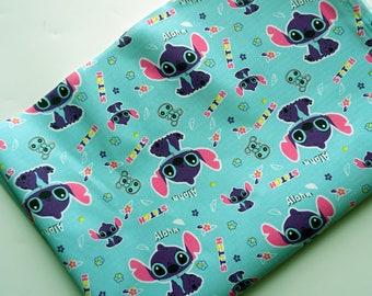 145cm*50cm/57*19.7 Inch  Disney Lilo and Stitch PVC Nylon Waterproof Fabric