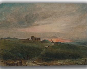 John Constable: Stonehenge at Sunset. Fine Art Canvas. (04124)