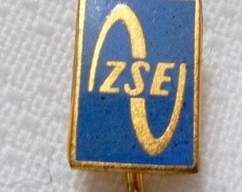 ZSE Pin, Vintage ZSE Badge, ZSE Czecholsovakia Pin
