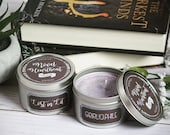 Custom personalized Instagram handle or blog name 8 oz soy candle tin