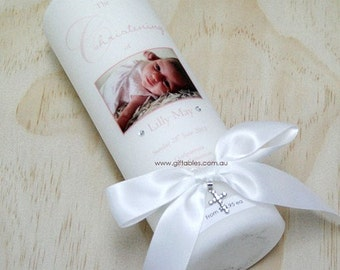 Personalised Christening / Baptism Candle - CDG03