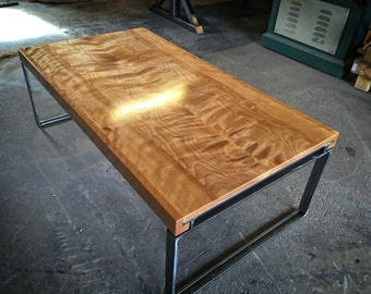 Book-Matched Flamed Birch Coffee Table