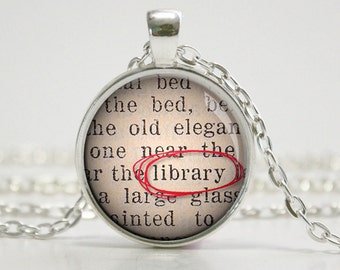 Librarian Necklace - Library Jewelry - Bookish Jewelry - Literary Jewelry  - (B0558)
