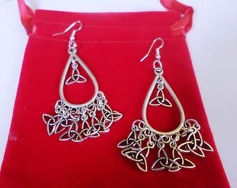 drop shape earrings pendants triskel