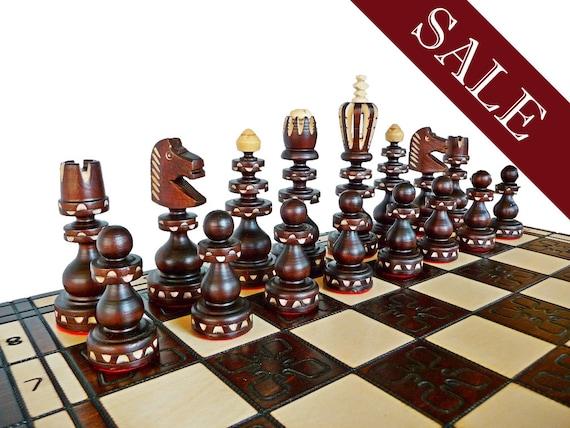 Stylish Wooden Chess Set Handmade 55x55cm By Stylishchess