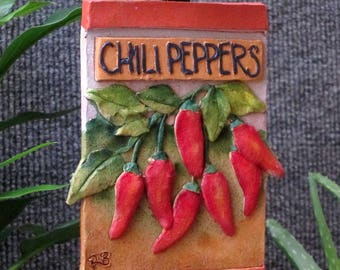 Chili Pepper garden marker