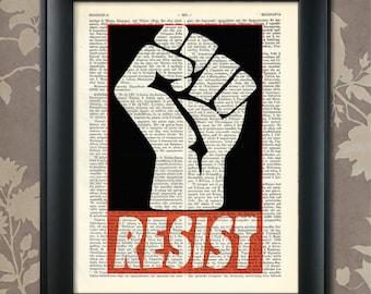 RESIST, Motivating Print, Political Print,Political Poster,Feminist Print,Political Art,Feminist Art,Trump,Global Warming,Black lives matter