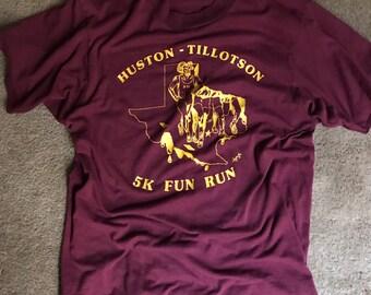 Vintage 1986 Huston-Tillotson 5K Fun Run shirt