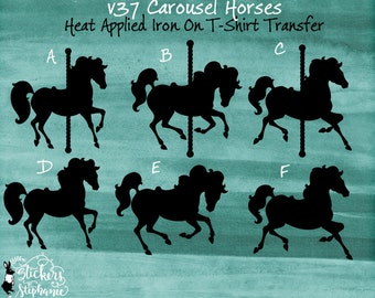 merry go round horse template - carousel template etsy