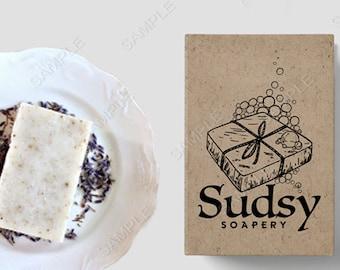 Bath and  Soap  logo, business logo and watermark, Suds logo, retro logo,  pre-made logo design
