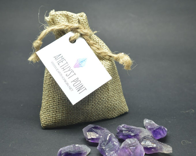Featured listing image: Amethyst point in bag good for grid - AMEBAG01