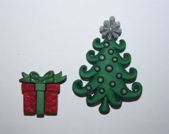 Christmas Tree Silicone Mold Present Silicone Mold Candy Chocolate Fondant Resin Soap Mold Food Safe Mold