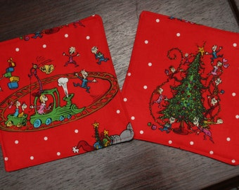 GIFTS UNDER 15 How the Grinch Stole Christmas Mug Rugs Large Coasters