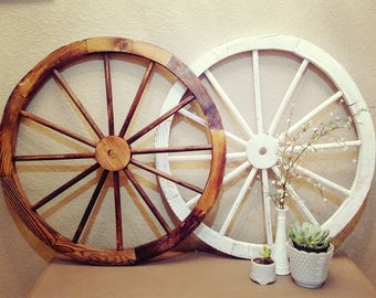 Wood And Metal Wagon Wheel, Country Kitchen, Industrial Decor, Farmhouse  Wall Decor,