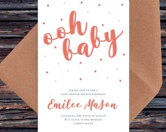 Oh Baby. Baby Shower Invitations