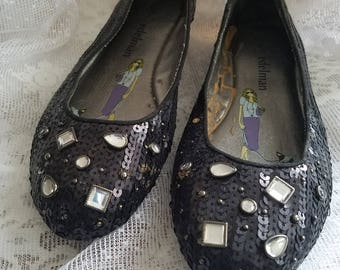 Libby Edelman Sequined Slip ons