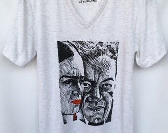 Frida and Diego Rivera Unisex T-shirt. Frida and Diego Rivera Portrait T-shirt. Frida and Diego Rivera Sharpie Design T-shirt. Gift Friendly