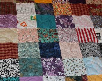 Scrappy Patchwork Quilt - Lap Size Quilt - Lap Quilt - 50% DEPOSIT