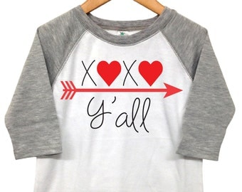 Valentines Day Shirt -  XOXO Y'all - Toddler Valentine - Toddler Heart Shirt - Girls Valentine Shirt - XOXO Valentine SHirt - Baby Valentine