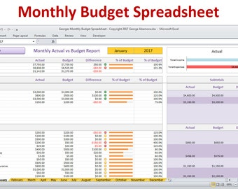 Excel Simple Home Budget Excel Template Budgeting