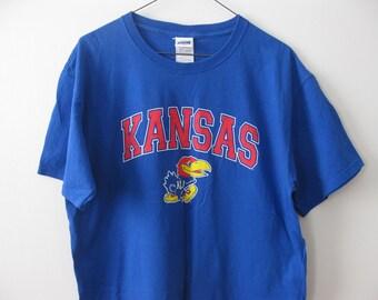 Kansas University Jayhawks T-shirt Shirt Adult Large