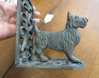 Vintage Cast Iron Metal Scotty Dog Bookend