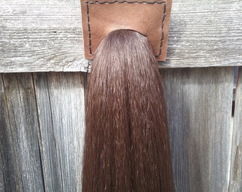 """42"""" Long horse tail for costumes, cosplay, or ponyplay. Medium chestnut brown. Ready to ship."""