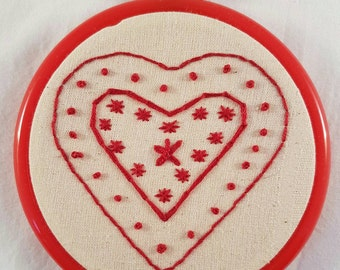 Red Heart Embroidery Hoop