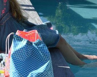 Bathing suit bag waterproof sparkling colors
