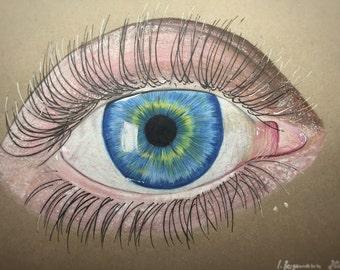 Eye Drawing Original