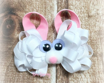 Easter Bunny Hair Bow, Bunny Bow, Easter Hair Bow, Easter Hairbow, Easter Bunny Clip, Easter Hair  Clip, Bunny Hair Clip, Over the Top Bow