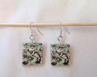 FREE SHIPPING! Scrabble Tile Earrings: Mermaids