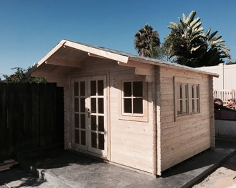 pre fabricated natural wood cabin kits can be used as guest house office - Garden Sheds Eureka Il