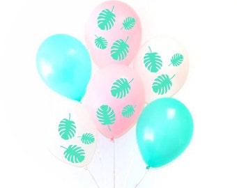 B27 Banana Leaf Balloon Decals Set, Palm Leaves Balloons, Party Balloons, Palm Tee Balloon Decals, Palm Balloons, Banana Leaves Balloons