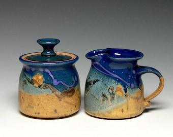 Pottery Sugar Creamer Set