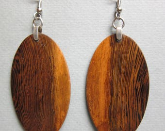 Unique Large Exotic Wood Earrings handcrafted by ExoticwoodJewelryAnd