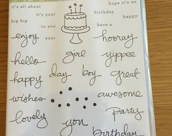 Stampin' up endless birthday wishes set
