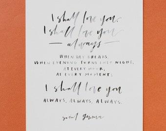 Saint Gemma Quote 8x10 Print
