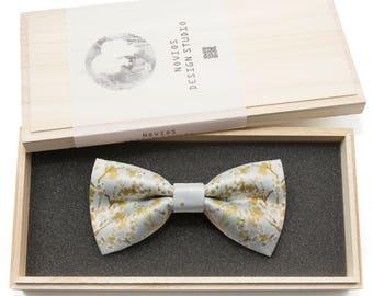 Japanese Floral 3 Bowtie - Modern Boys Bowtie, Toddler Bowtie Toddler Bow tie, Groomsmen bow tie, Pre Tied and Adjustable Novioshk, H0318