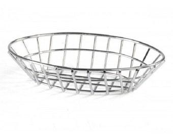 Oval Wire Basket - Stainless Steel 119966