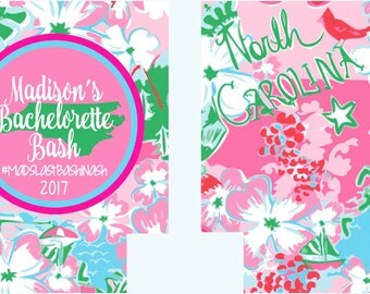North Carolina Huggers.Bachelorette or Birthday Party Coolies. Monogrammed Carolina Party Can Coolies! North Carolina Bachelorette.