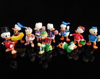 Vintage Toys, Collectible, Scrooge McDuck, Huey Dewey and Louie, Donalds flotte Familie 1987, Complete Series, KINDER Surprise Figurines