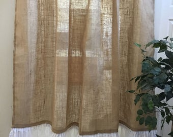 Monogrammed shower curtain | Etsy